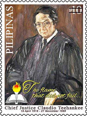 Claudio Teehankee - Image: Claudio Teehankee 2014 stamp of the Philippines
