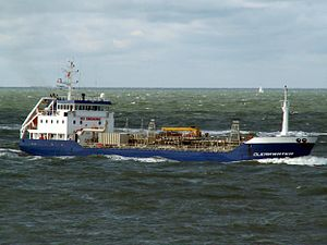 Clearwater IMO 9077537 approaching Port of Rotterdam, Holland 10-Aug-2005.jpg