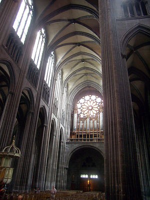 Clermont-Ferrand Cathedral - Interior of the cathedral
