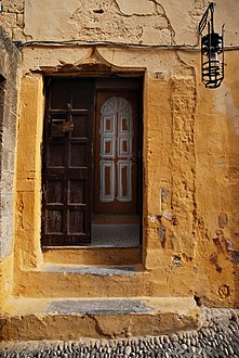 Close up look of the streets of the old town of Rhodes (World Heritage City, UNESCO). Rhodes, the island of Rhodes, the Dodecanese, Greece-2.jpg