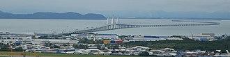 Sultan Abdul Halim Muadzam Shah Bridge - Image: Cmglee Penang second bridge aerial