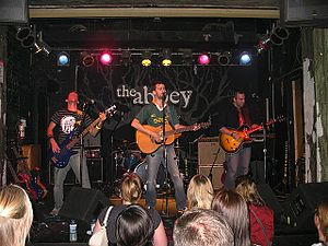 Cobalt & the Hired Guns - Image: Cobalt and the hired guns at the abbey pub in 2007