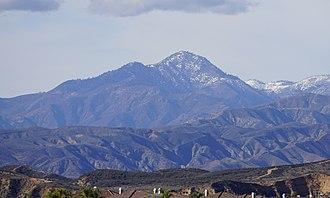 Cobblestone Mountain (California) - View of the mountain's eastern face