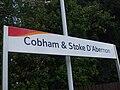 Cobham & Stoke D'Abernon stn signage.JPG