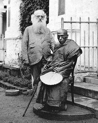 Hikkaduwe Sri Sumangala Thera - Most Ven. Hikkaduwe Sri Sumangala Thera and Colonel Henry Steel Olcott in Colombo, 1889.