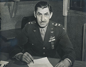 Presque Isle Air Force Base - Colonel Raphael Baez, Jr., Commanding Officer at Presque Isle Army Air Field about 1943