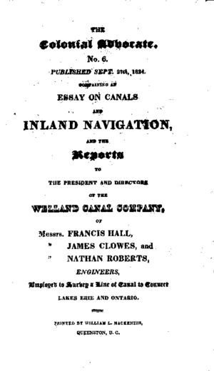 Colonial Advocate - Coverpage of the Advocate published on September 27, 1824.