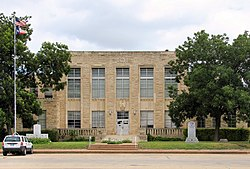 The Comanche County Courthouse in Comanche