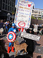 Comic-Con 2010 - Captain America, Super Skunk and Anaheim the Goat wants to Keep Comic-Con in San Diego! (4878688408).jpg