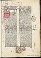 Commentaria in Aristotelis Politicorum libros 1478 Tomás de Aquino.jpg