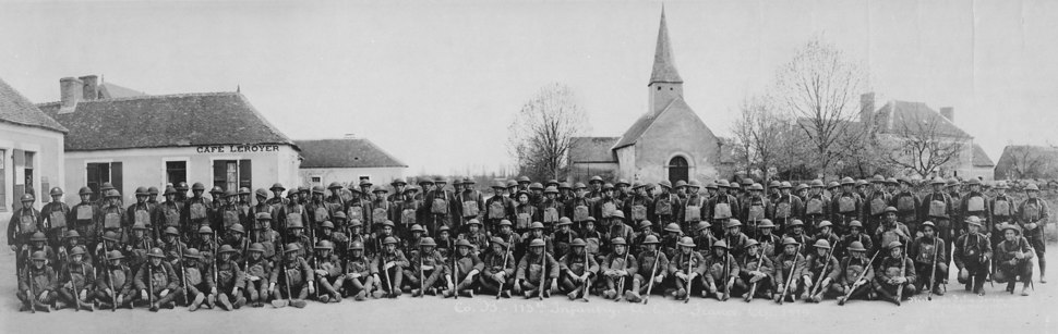 Company %22B%22-113th Infantry-American Expeditionary Forces-France. Richards Film Service Inc., 04-1919 - NARA - 533262