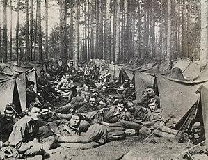 Suwannee Rifles - Company E, 124th Infantry on break from training.