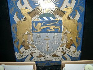 Worshipful Company of Merchant Taylors - The crest of the Worshipful Company of Merchant Taylors