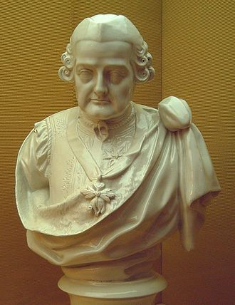 Pedro Pablo Abarca de Bolea, 10th Count of Aranda - 18th century porcelain bust of Aranda (M.A.N., Madrid).