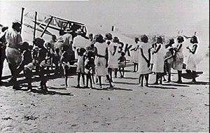 Ngukurr - Image: Connellan Airways Roper River 1948