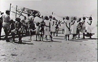 Ngukurr - Image: Connellan Airways Roper River 1948