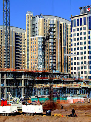 Reston Town Center - Construction in December 2006