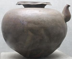 Copper production in India - Copper Vase which contained the 1821 Gold Coins of the Gupta Period found at Bayana, District Bharatpur, Rajasthan