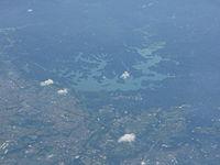 Coral Lake Tainan from airplane window.JPG