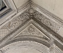 Corner a ceiling with stuccos from Carturesti Verona, in Bucharest (Romania).jpg