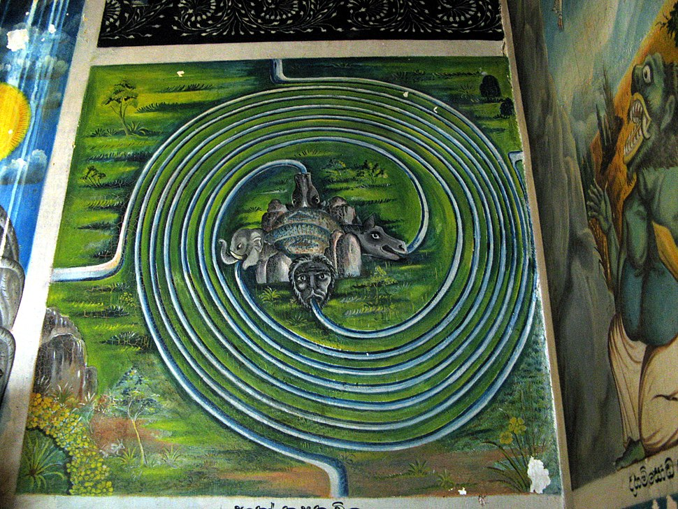 Cosmological Diagram. Aluvihara, Sri Lanka 0475