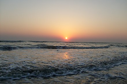 The beach in Cox's Bazar, with an unbroken length of 120 km (75 mi), it is the longest natural sea beach in the world Cox's Bazar Sea Beach3.JPG
