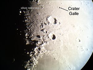 Galle (lunar crater) - Location of Galle on the Moon