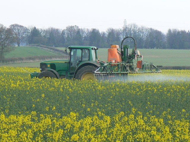 Crop spraying near St Mary Bourne - geograph.org.uk - 392462