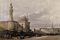 Crowds outside the mosque of Sultan Hassan, Egypt. Coloured Wellcome V0049378.jpg