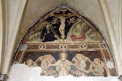 Andrea di Bartolo, Crocifissione e Madonna della Misericordia , Cappella delle fanciulle, Museo Santa Maria della Scala, Siena
