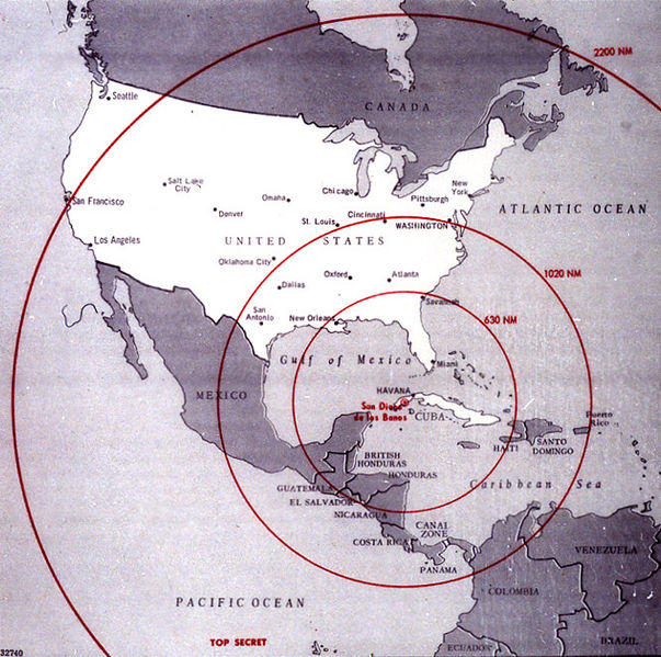 a history of cuban missile crisis The cuban missile crisis, also known as the october crisis of 1962 (spanish:  crisis de  for the only confirmed time in us history, b-52 bombers went on  continuous airborne alert, and b-47 medium bombers were dispersed to various  military.