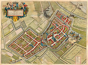 Culemborg - Culemborg in Joan Blaeu's map from his Tooneel der Steeden, 1649