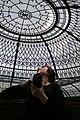 Custom made stained and leaded glass dome ceiling designed vy glass artist Victoria Balva.jpg