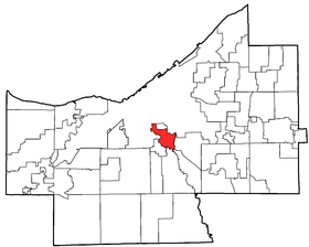 Location of Cuyahoga Heights in Cuyahoga County