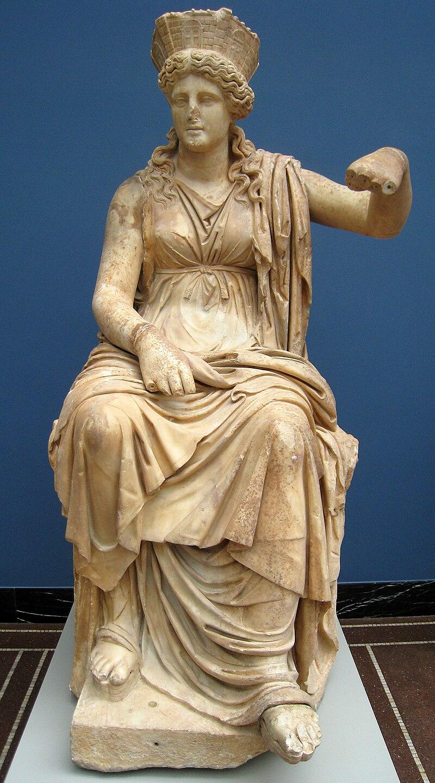 Мраморная статуя Кибелы из Формии в Лацио, ок. 60 г. до н.э. Новая глиптотека Карлсберга, инв.№480