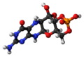 Cyclic pyranopterin monophosphate molecule ball.png