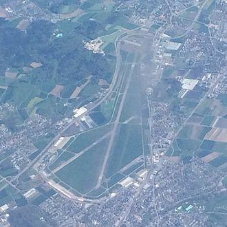 Dübendorf Air Base - Aerial view of the Dübendorf Air Base