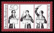 50-Pfennig-Sondermarke der Deutschen Bundespost (1976) zum 150. Todestag (Quelle: Wikimedia)