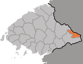 Location of Hyangsan County