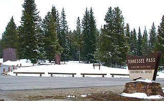 Tennessee Pass (Colorado) Mountain pass in Colorado, United States