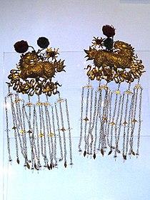 Dai hair ornaments (gilt silver) - Yunnan Provincial Museum- DSC02031.JPG