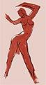 Dancer Orange by David Fairrington Acrylic 1996.jpg