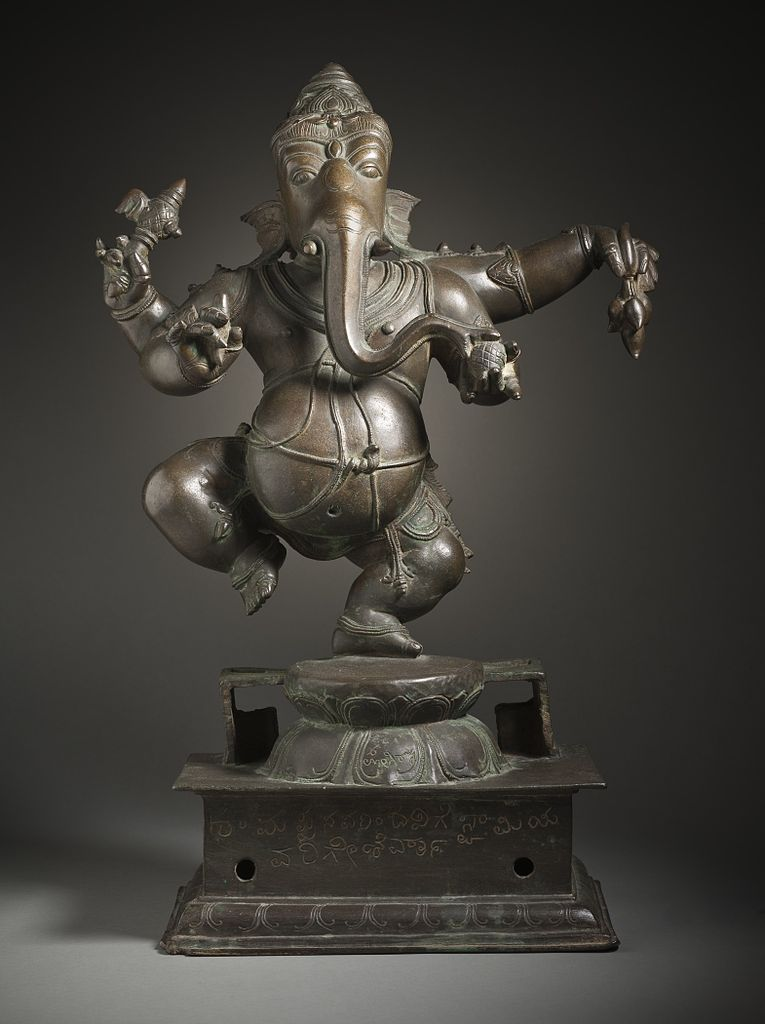 Ganesh dançant au LACMA, statue du 17e siècle.