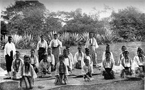 Danu people - A troupe of Danu dancing girls in Pindaya (c. 1906)
