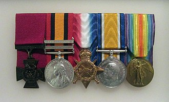 Wilbur Dartnell - Dartnell's medals on display at the Australian War Memorial, Canberra