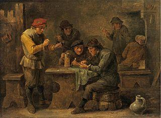 Peasants Playing Dice