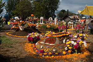 English: Day of the Dead celebrations at the c...