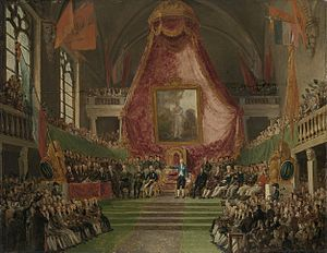 Ghent University - Painting of the establishment of the State University of Ghent in 1817 when the city was under Dutch rule