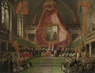 The Solemn Inauguration of University of Ghent by the Prince of Orange in the Throne Room of the Town Hall on 9 October 1817