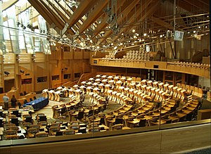 Scottish independence - Debating chamber of the Scottish Parliament